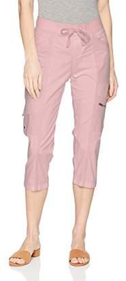 Lee Women's Relaxed Fit Margeaux Knit Waist Cargo Capri Pant