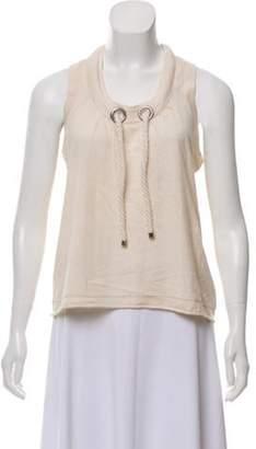 Burberry Silk and Cashmere Sleeveless Top Silk and Cashmere Sleeveless Top
