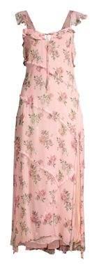 LoveShackFancy Women's Sally Floral Maxi Dress - Pink Canopy - Size XS