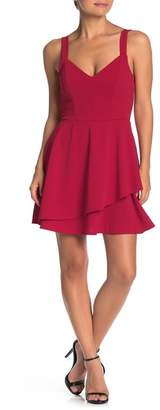 Love, Nickie Lew Layered V-Neck Skater Dress