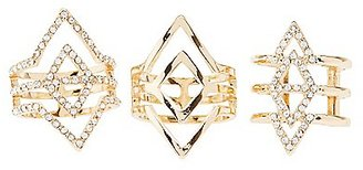 Caged Chevron Rings - 3 Pack $6 thestylecure.com