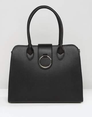 Asos Design Tote Bag With Ring Detail