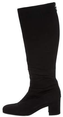 Prada Sport Knee-High Square-Toe Boots