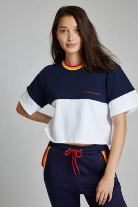 Perfect Moment Blocked Cropped Tee