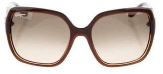Salvatore Ferragamo Oversize Gancini Sunglasses