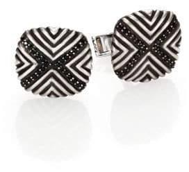 John Hardy Bedeg Sterling Silver & Black Sapphire Cuff Links
