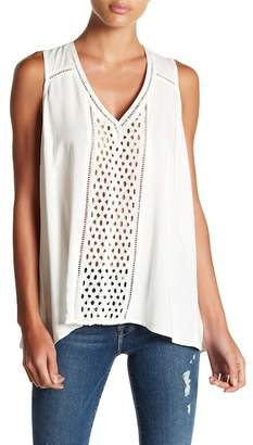 Love Stitch Lace Front and Back V-Neck Tank