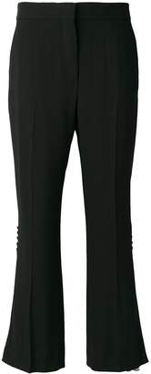 MSGM floral insert flared trousers