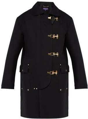 Ralph Lauren Purple Label Baker Single Breasted Cotton Twill Overcoat - Mens - Black
