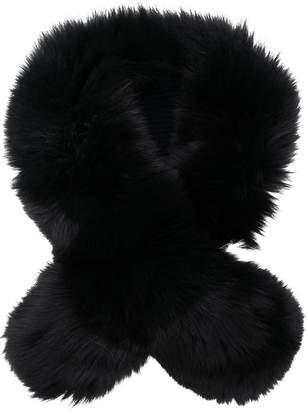 N.Peal contrast fur scarf