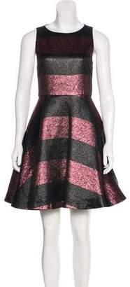 Alice + Olivia Metallic Flared Dress