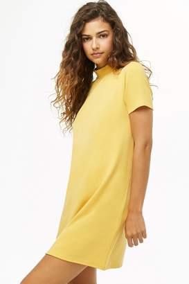 Forever 21 Mock Neck Mini T-Shirt Dress