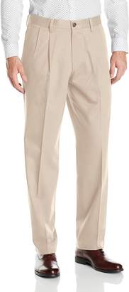 Dockers Classic Fit Signature Khaki Pant - Pleated D3, Black Stretch, 38x29
