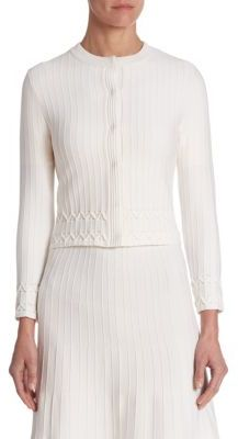 Ralph Lauren Collection Ribbed Wool Cardigan
