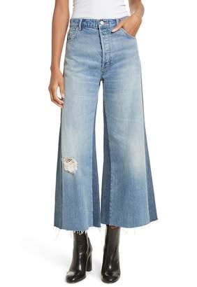 Rebecca Taylor Wide Leg Rigid Jeans (Soft Sky Wash)