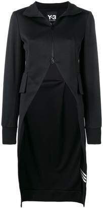 Y-3 asymmetric zipped up sweater