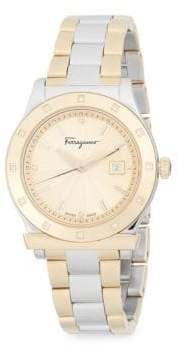 Salvatore Ferragamo Diamond and Stainless Steel Bracelet Watch