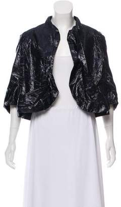 David Szeto Metallic Bolero Jacket w/ Tags