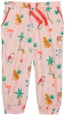 Boden Mini Island Friends Print Pants