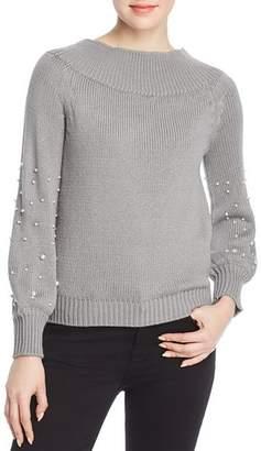 Elan International Faux-Pearl-Embellished Sweater