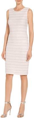 St. John Textural Striped Knit Dress