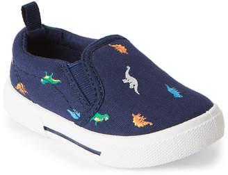Carter's Toddler Boys) Navy Damon Dinosaur Print Slip-On Sneakers