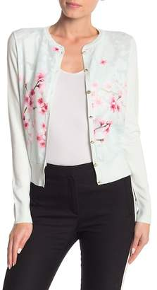 Ted Baker Blossom Woven Front Cardigan