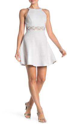 Love, Nickie Lew High Neck Middle X Skater Dress