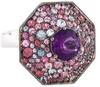 Bhansali Amethyst & Multicolor Spinel Ring