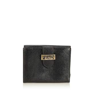 Fendi Vintage Embossed Leather Short Wallet
