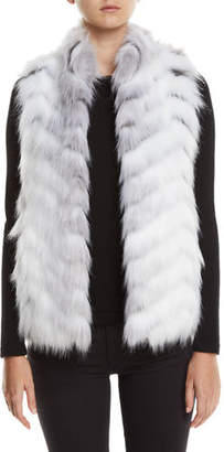Fabulous Furs Limited Edition Hook-Front Faux-Fur Vest