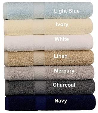 Ringspun Cotton Craft - 7 Pack Multi Color Bath Towels - 100% Cotton - 27x52 – Light Weight 450 Grams – Quick Drying and Highly Absorbent - Colors - Ivory