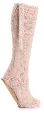 Lemon Snowflake Women's Slipper Socks
