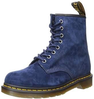 Dr. Martens Unisex Adults' 1460 Indigo Soft Buck Boots, Blue, 37 EU