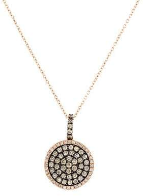 KC Designs 14K Diamond Circle Pendant Necklace