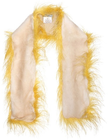 prada Prada Feather And Fur Scarf