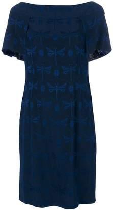 Alberta Ferretti dragonfly print dress