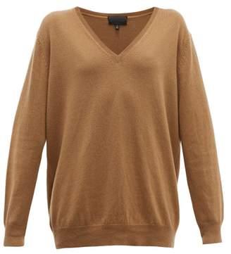 Nili Lotan Kendra V Neck Cashmere Sweater - Womens - Camel