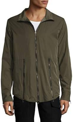 Miguel Antoinne Men's Nylon Stand Collar Rain Jacket