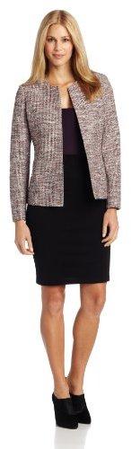 Kasper Women's Novelty Lurex Tweed Fly Away Suit Jacket
