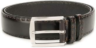 Kiton stitch detail classic belt