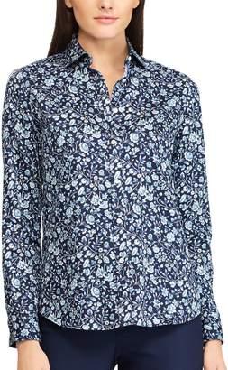 Chaps Petite Striped Button-Down Shirt