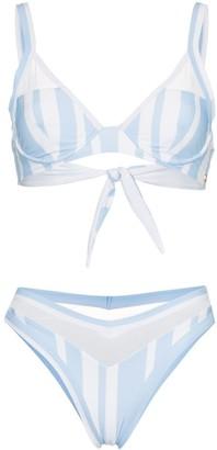 Ambra Maddalena Puppy Love striped high waist bikini