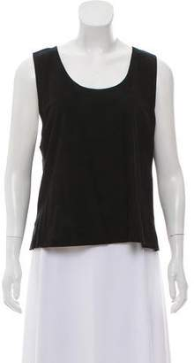 Gucci Suede Sleeveless Top