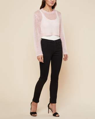 Juicy Couture Metallic Mohair Crop Pullover