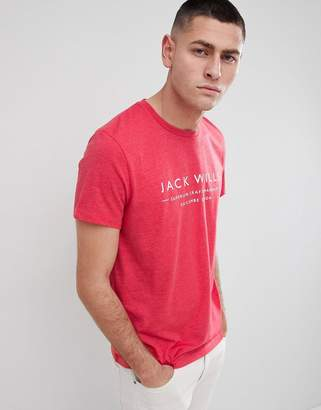 Jack Wills Westmore Graphic Logo T-Shirt in Red
