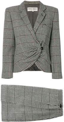 Giorgio Armani Pre-Owned check skirt suit