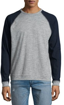 Rag & Bone Standard Issue Colorblock Raglan-Sleeve Baseball Shirt, Gray $150 thestylecure.com