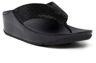 FitFlop Crystal Wedge Thong Sandal