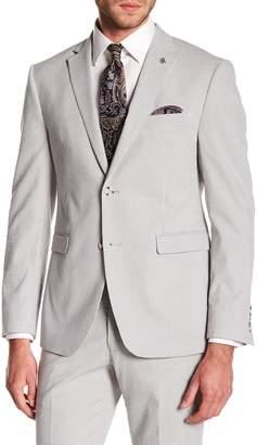 Original Penguin Silver Seersucker Gingham Two Button Notch Lapel Suit Separates Jacket